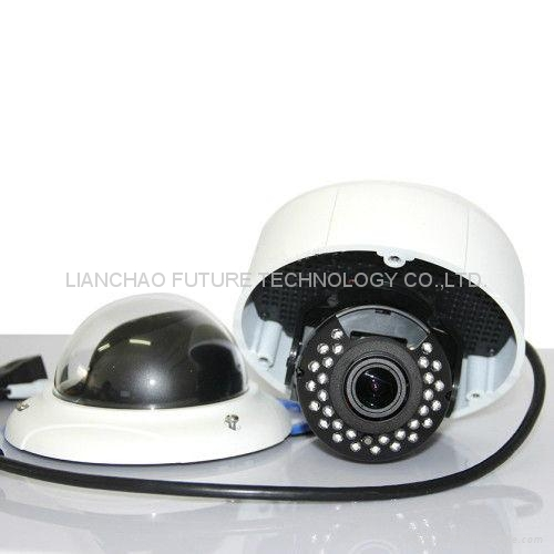 Full HD Onvif 3MP P2P IP Camera Vandalproof IR Dome Camera Missing Objects Detec 1