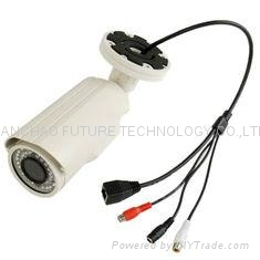"H.264 1MP 720P P2P IP Camera , 1/4"" CMOS Waterproof Outdoor Cloud Network Camera 1"