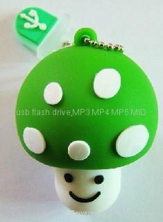 硅膠蘑菇U盤 1