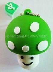 硅膠蘑菇U盤