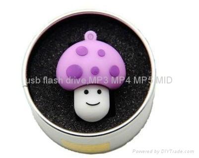 硅膠蘑菇U盤 3