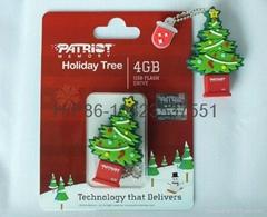 圣诞树优盘 U盘礼品 圣诞节礼物 节庆广告促销 圣诞老人