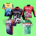 Sportwear for sublimation heat transfer