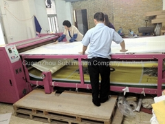 Rotary heat transfer machine for heat printing