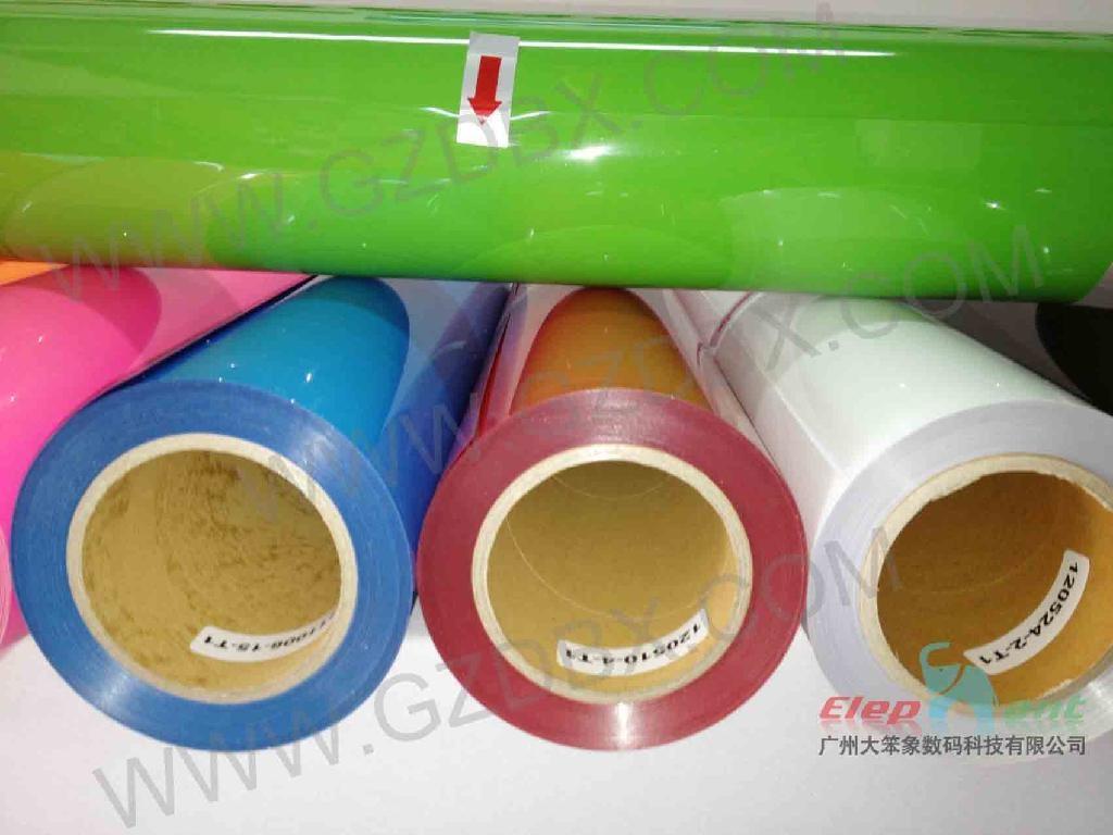 PU heat transfer film/vinyl for cotton fabric 4