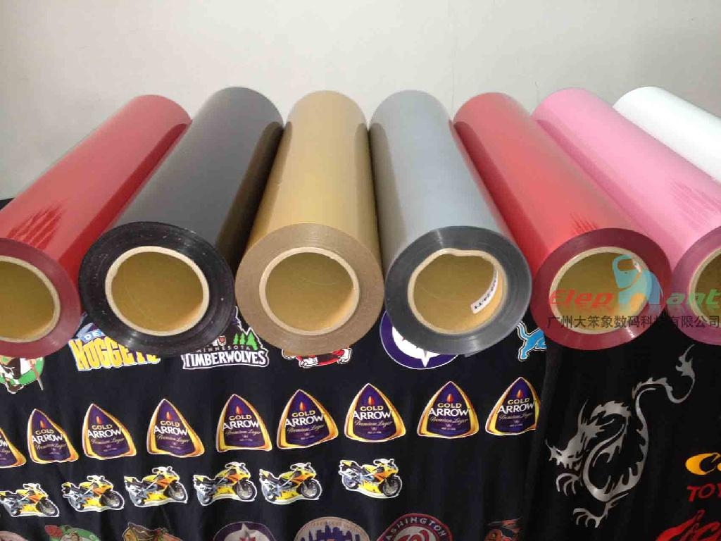PU cutting transfer film for cotton fabric, t-shirt 2