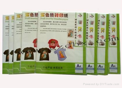 廠家供應熱轉印紙 T卹深淺色轉印紙 A4純棉面料熱昇華紙 2