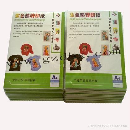 廠家供應熱轉印紙 T卹深淺色轉印紙 A4純棉面料熱昇華紙 5