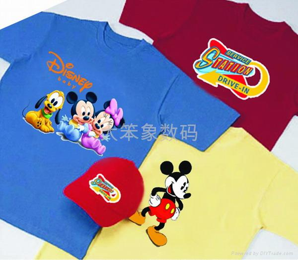 Rubber color heat transfer printing for t shirt dbx 003 for Printing t shirt transfers