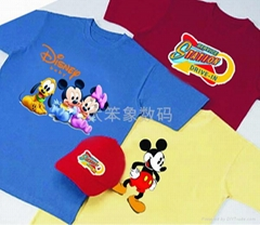 Rubber Color Heat Transfer printing for T shirt