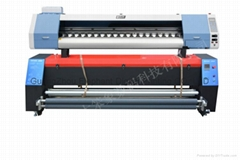 1.8M Flag textile inkjet printer with double 5113 head