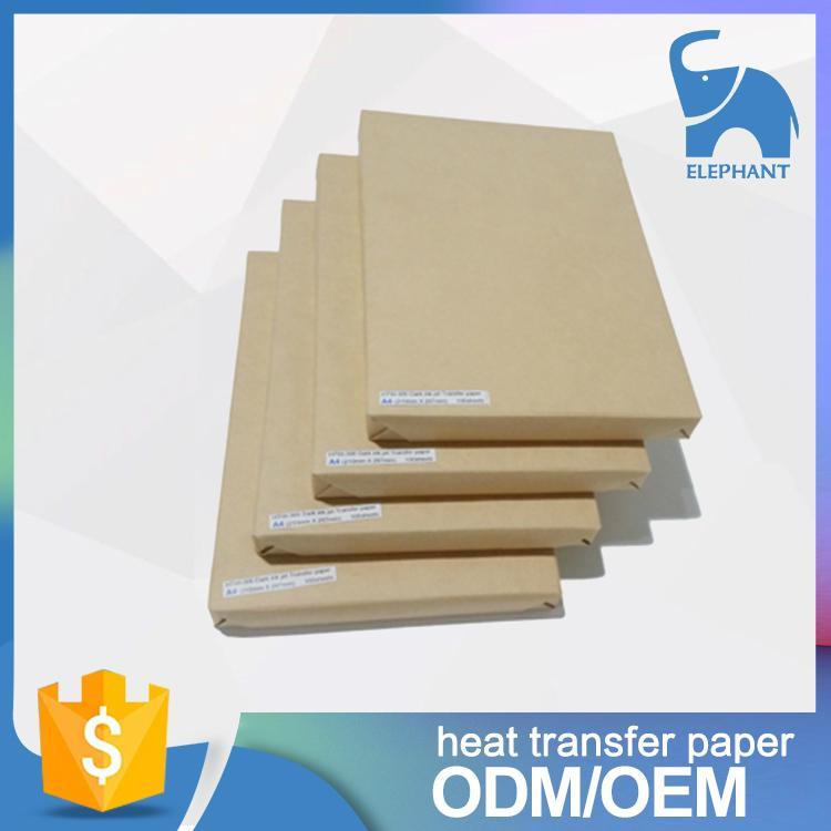 厂家供应热转印纸 T恤深浅色转印纸 A4纯棉面料热升华纸 1