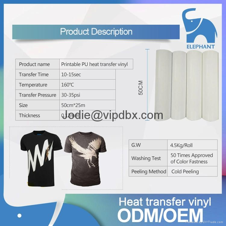Korea quality Printable PU heat transfer vinyl 3