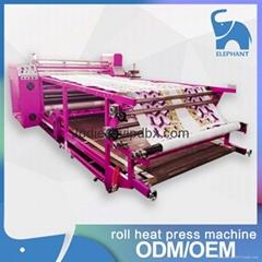 厂家直供 全自动滚筒印花机裁片匹布服装热转印机 保修一