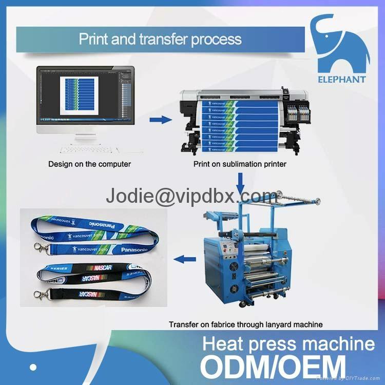 厂家直销 新款多功能织带印花机 热转印织带挂绳印花厂 3
