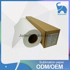 Fast Dry Dye sublimation heat transfer paper roll