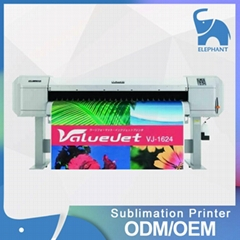 Japan mutoh VJ1624W inkjet sublimation printer for garment
