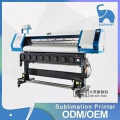 熱銷5113雙噴頭數碼印花機 1.8米大寬幅打印機 熱昇華寫真機
