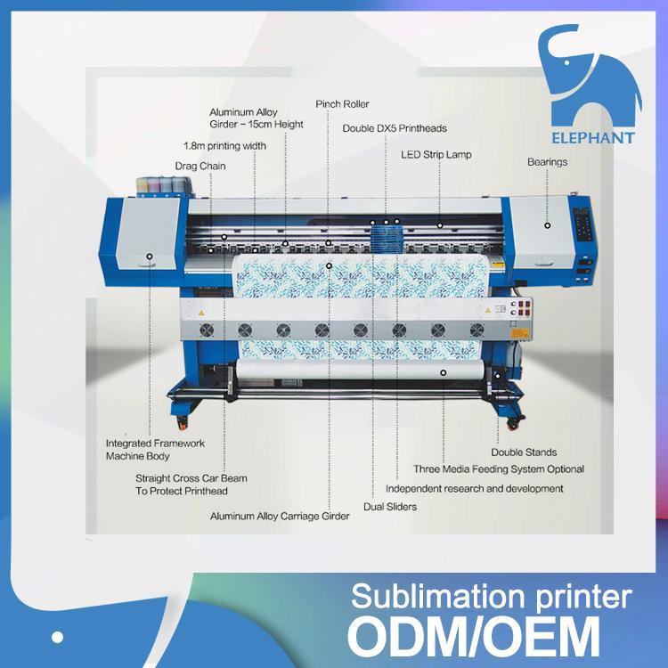 大笨象V1800单喷头写真热升华打印机 2