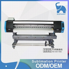Large format double 5113 print head sublimation textile t shirt digital printer