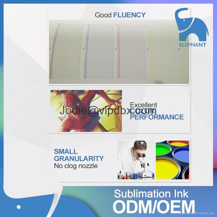 Good feedback fluorescent clothing dye sublimation ink for L310 L1300 L1800 3