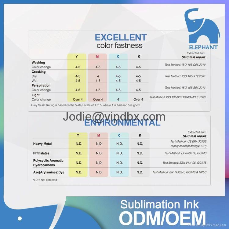 Good feedback fluorescent clothing dye sublimation ink for L310 L1300 L1800 6