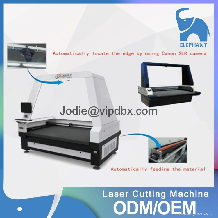 Auto feeding laser cutting machine with SCCD camera for textile printing 3