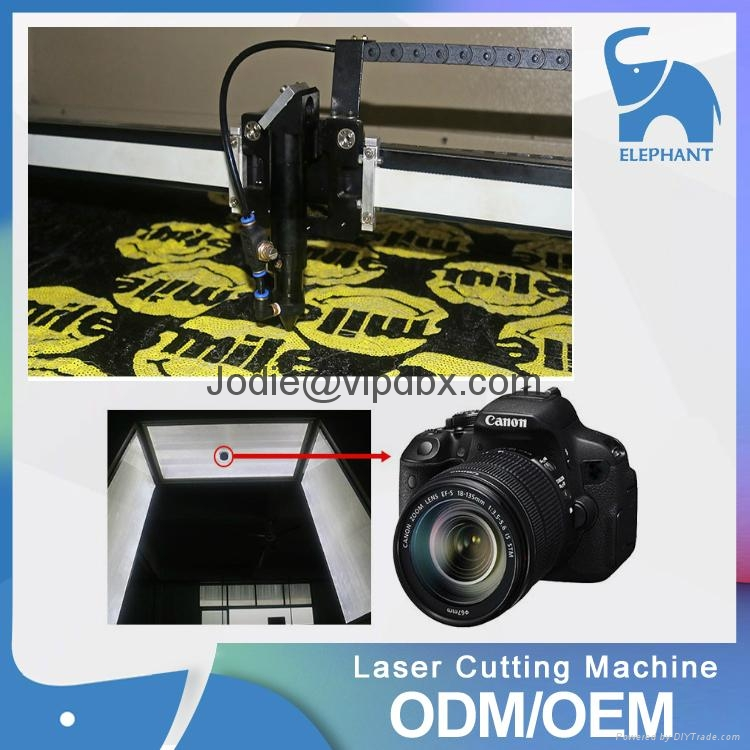 Auto feeding laser cutting machine with SCCD camera for textile printing 4