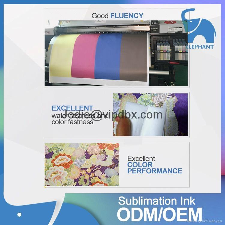 best quality fluorescent bulk dye DX5 sublimation heat transfer printing ink 3