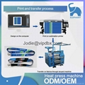high speed lanyard printing roller heat transfer machine for ribbon printing 2