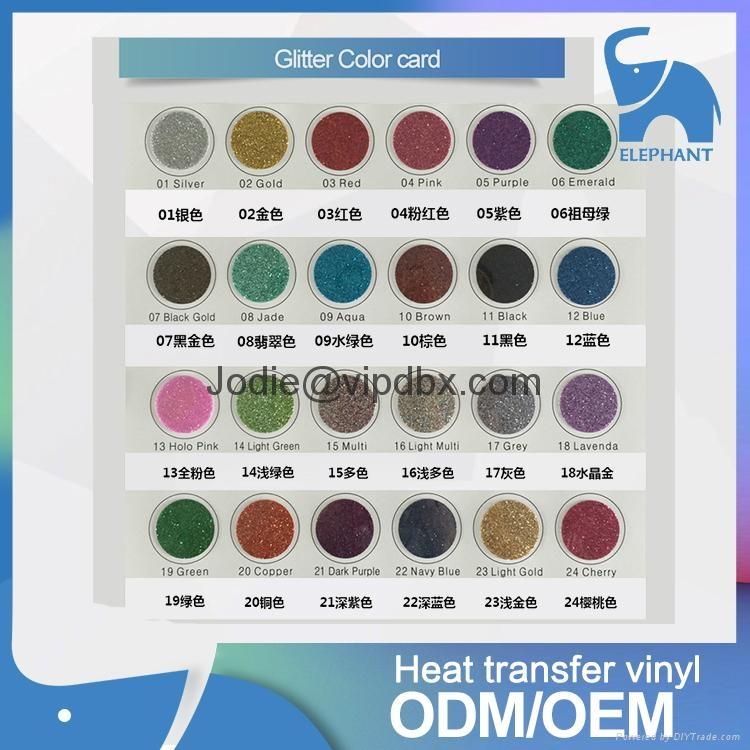 Heat transfer various color pvc pu glitter reflective vinyl rolls wholesale t sh 3