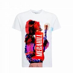 批发热升华3D印花客制化订制T恤