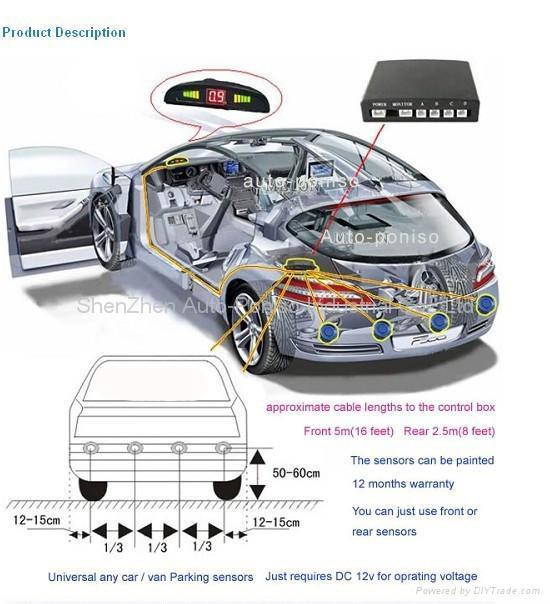 Parking Sensor System For Cars