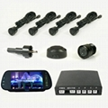 Auto rear view system with camera/park sensors 1
