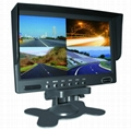 7 inch car backup monitor car quad monitor/4 channel manufacture