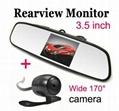 car mirror monitor (3.5 inch,4.3 inch, 7 inch optional)