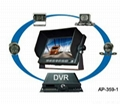 5 inch car monitor quad with 4 cameras/car DVR/car backup monitor