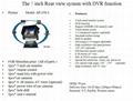 5 inch car monitor quad with 4 cameras/car DVR/car backup monitor