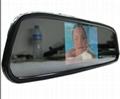 4.3inch car mirror monitor/car bluetooth kit/car rear view system