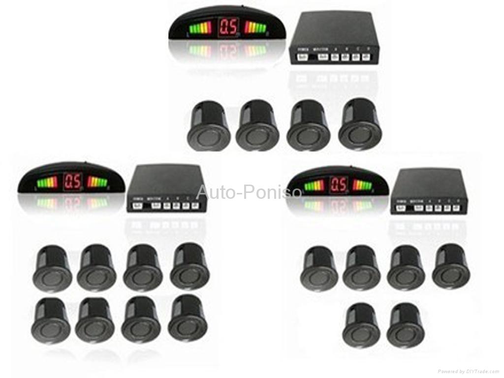 car parking sensor system with LED display -2/4/6/8 sensors optional