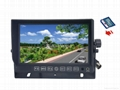 "7"" car split monitor with 4 cameras DVR system-recording function"