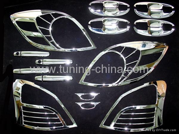 06 Toyota Yaris exterior chrome trims full set 1