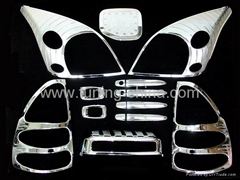 Chrome accessories for Toyota Prado FJ120 03-07