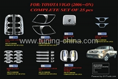 Chrome trim set for Toyota Hilux Vigo