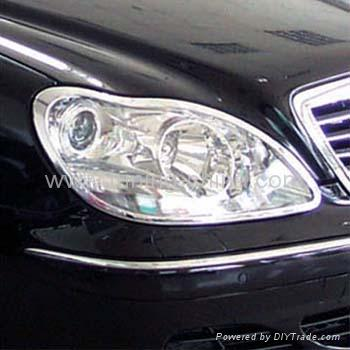 Hot mercedes benz w220 s class luxruy chrome trim t - Car exterior decoration accessories ...