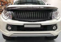 ABS racing grille Modified grille Car bumper grille black matte for Triton 2015u