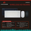 Wireless keyboard and mouse combo GKM500 4