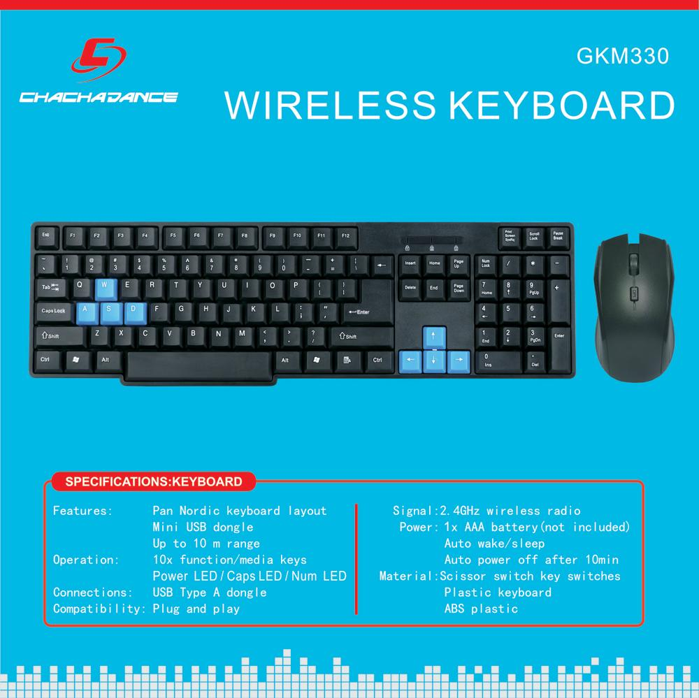 Wireless Keyboard and Mouse GKM320 3