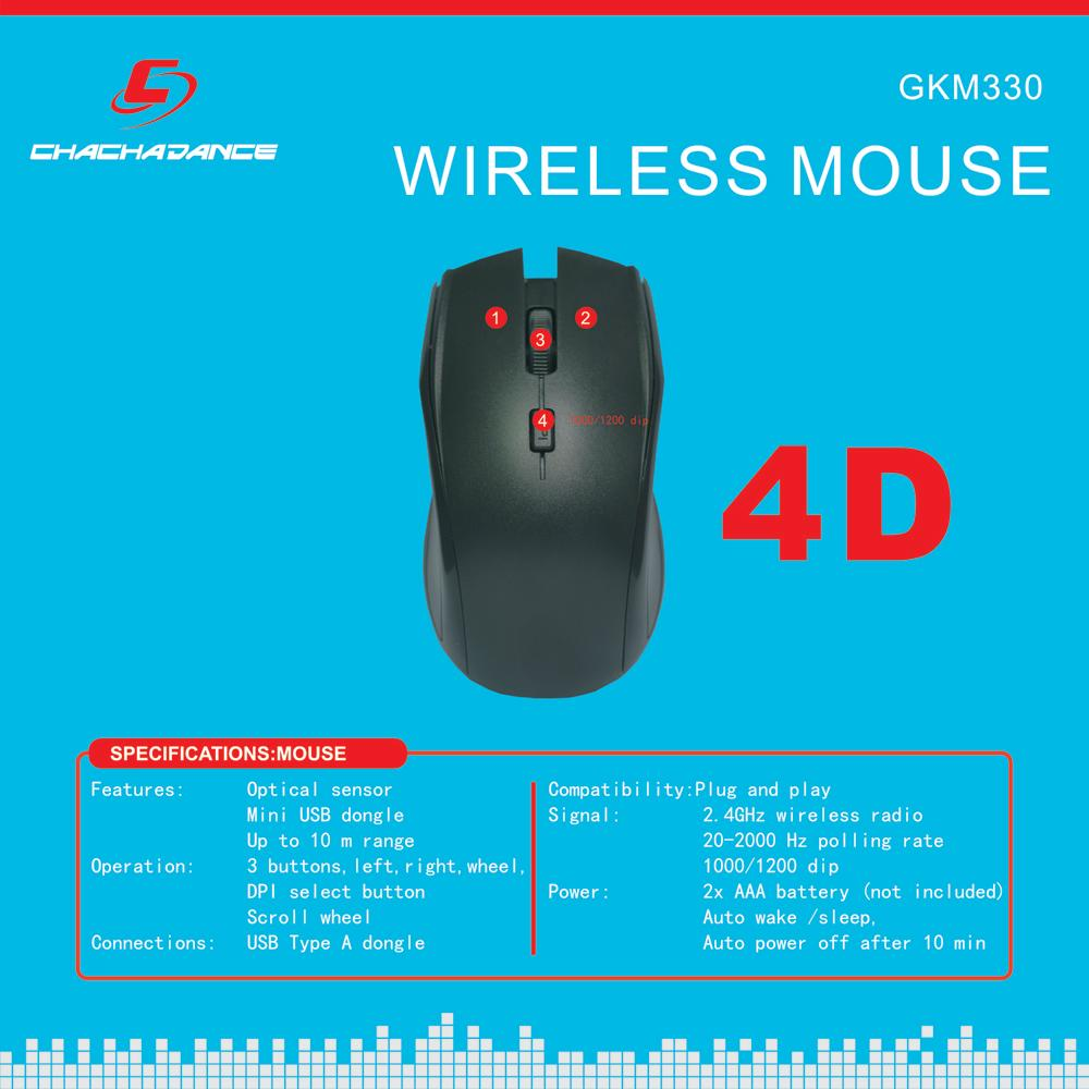 Wireless Keyboard and Mouse GKM320 4