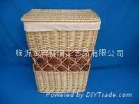 柳編洗衣籃